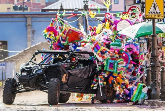 Ken Block staged a show on the streets of Guanajuato again